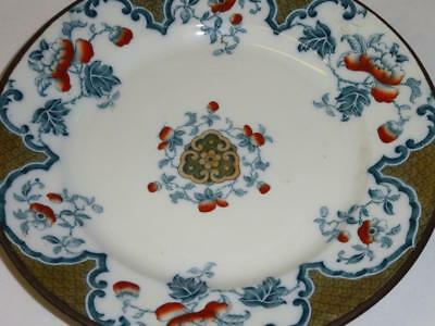 Antique Vintage HOT WATER WARMING PLATE Porcelain Turkey Red Poppy