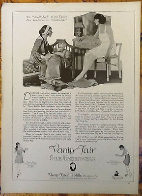 Vanity Fair clothing flapper women fashion ad 1919 vintage original 1920s pin up