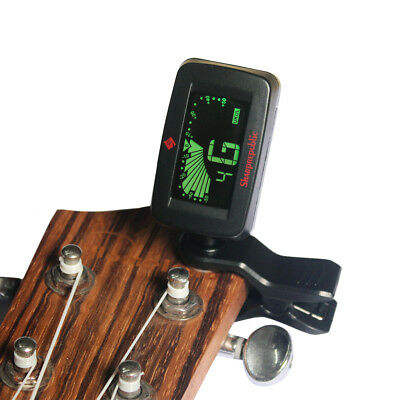 Clip-on Tuner Pick for Guitar Ukulele Bass Violin Chromatic Tuning Display