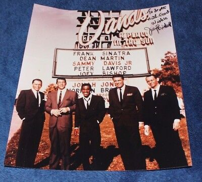 8 x 10 Photo - The RAT PACK - Sinatra, Dean Martin AUTOGRAPHED by JOEY BISHOP