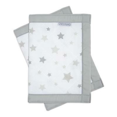 Airwrap Mesh Cot Protector - 2 Sided (Silver Stars) safer than cot bumpers
