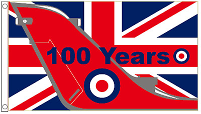 Royal Air Force RAF 100 Years Anniversary 5'x3' Flag