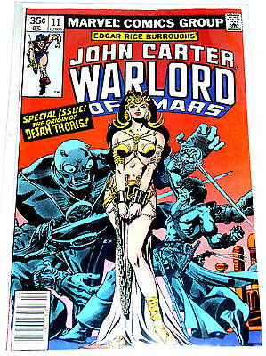 JOHN CARTER - WARLORD OF MARS #11  Origin Issue  BRONZE AGE MARVEL 1978