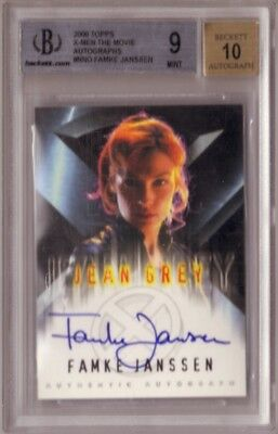 X-Men The Movie Famke Janssen JEAN GREY autograph auto card BGS 9 10 James Bond