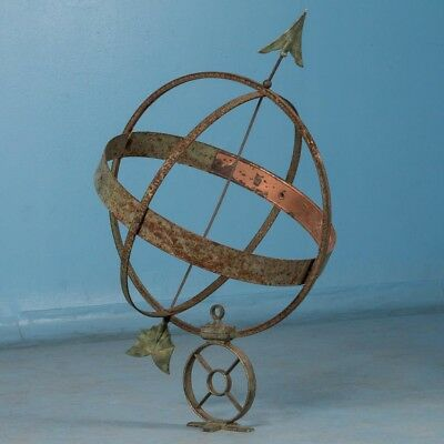 Vintage Early 20th Century Danish Armillary Garden Ornament