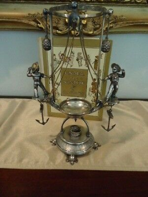 VICTORIAN SILVERPLATE EPERGNE Holder, Figural Kate Greenaway with Sailor boys!
