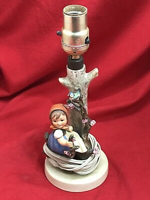 Vintage Hummell Lamp APPLE TREE GIRL #229 TESTED and WORKING