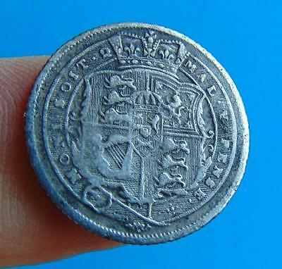 FINE  GRADE  GEORGE  III  1816  SILVER  SIXPENCE  6d....  LUCIDO_8  COINS