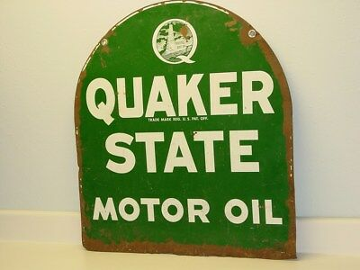 "Vintage Advertising Sign ""Quaker State Motor Oil"",  Automotive Sign"