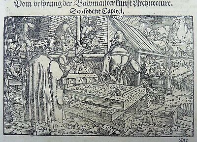 1544 Master of Petrach - Hans Weiditz 1495-1537 - Building, Architecture woodcut