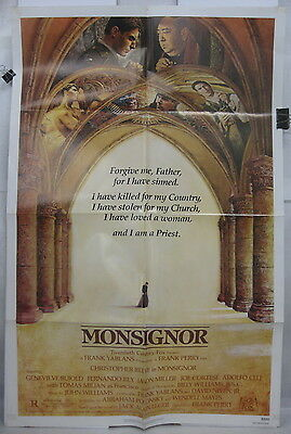 """1982 MONSIGNOR LARGE MOVIE POSTER-27"""" x 41""""-CHRISTOPHER REEVE"""