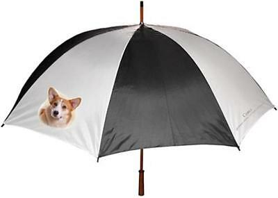 Corgi Dog Full Size Five Foot Black White Umbrella Gift
