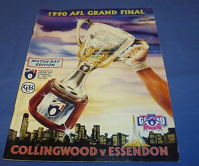 1990 AFL VFL Football Footy Record Grand Final Collingwood V Essendon 100 Pages