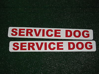 Red SERVICE DOG Magnetic signs 3x24 for Car Truck Van SUV Pair Badge Set