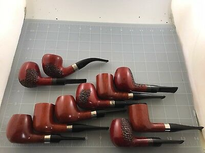 Judd's Lot of 10 NEW Unsmoked T. Cristiano Pipe w/Sterling Silver Bands