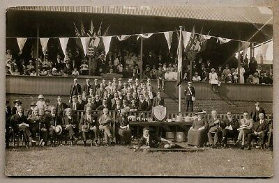 1920's era Postcard - Award presentation with a scout and St. Johns - Gloucester