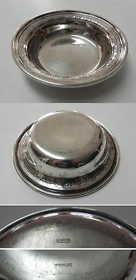 "Vintage Birks Sterling Silver 5-1/4"" Bowl w/Floral Design, NO Monograms"