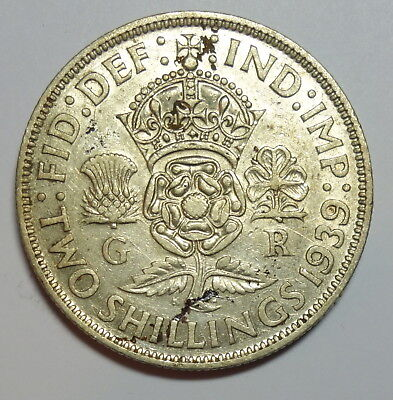 Great Britain  Florin. 1939.   0.500.  Silver.