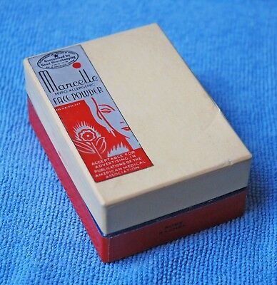 VINTAGE 1940's MARCELLE HYPOALLERGENIC FACE POWDER MAKEUP IN BOX ROSE RACHEL NOS