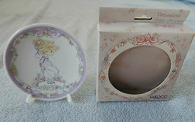 Enesco Precious Moments PAM Personalized Plate w Stand/Easel in Box