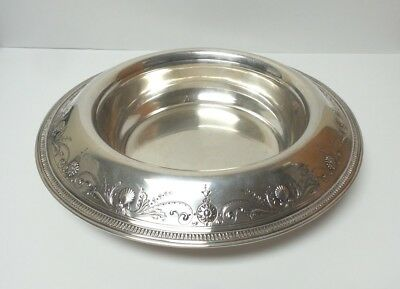 """TIFFANY & CO. Sterling Silver Embossed 13.5"""" Centerpiece / Bowl, c. 1907-1947"""