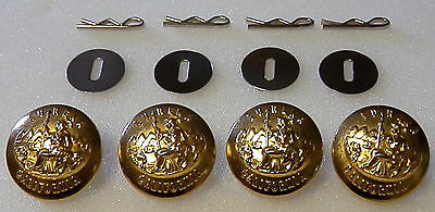4 California STATE SEAL Gold Uniform Buttons LARGE Pins/Washers CA police/fire