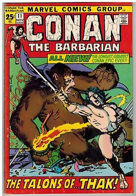 Conan The Barbarian #11 1971 Smith Art Marvel Bronze Age Giant 52 Pages Nice!