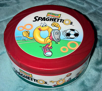 CAMPBELL'S ~ 10.5oz ~ THERMAL BOWL WITH LID ~ SPAGHETTIOS ~ SOCCER ~ NEW!