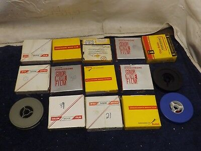 Lot of 15 Vintage home movies 8mm reels 1960's World's Fair