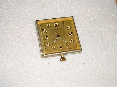 Vintage MERSMANN Brass Clock  WIND UP Swiss WORKS Manual Wind Only 8 day