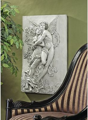 Romantic Classical Realism Angels in Love Wall Sculpture Frieze NEW