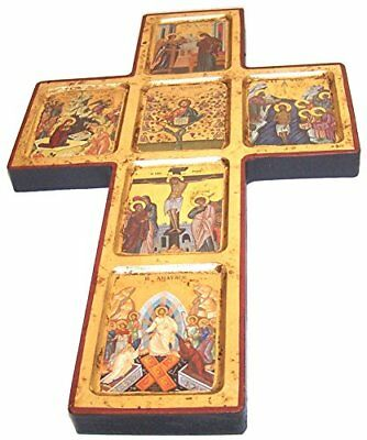 Christ life and the Church Icons with sheets of Gold (Lithography) (14.5 x 8.5