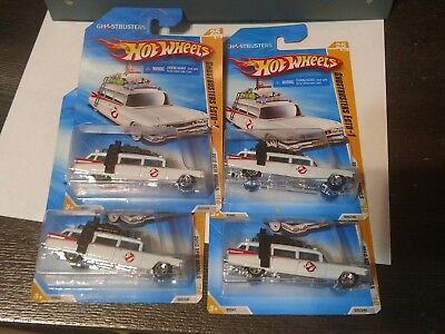 2010 Hot Wheels Ghostbusters Ecto-1 2010 New Models  Lot Of 4