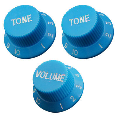 Guitar Knobs Tone Volume for Stratocaster SQ Electric Guitar Replacment Blue