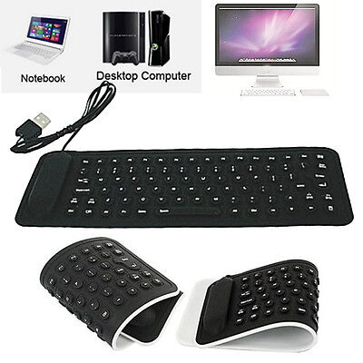 USB Mini Silicone Flexible Clavier Pliant Clavier pour Pc Portable Notebook Hot