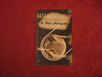 1939 GM Research looks to new Horizons Original Brochure Showroom Old Book