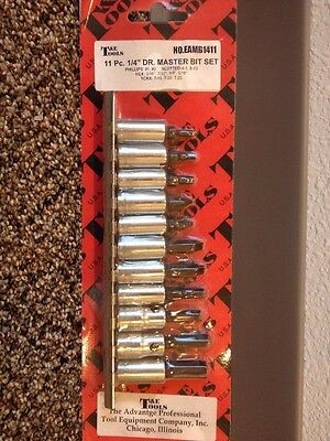 Eastco 11 Pc. Dr. Master Bit Set Phillips Hex Torx Made In The USA $39 Retail