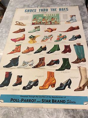 Rare Vintage Ad Poster for Poll-Parrot and Star Brand Shoes