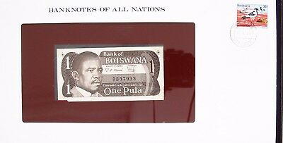 Botswana - 1983 - One Pula - P6 -  Cu - Banknotes Of All Nations 7215