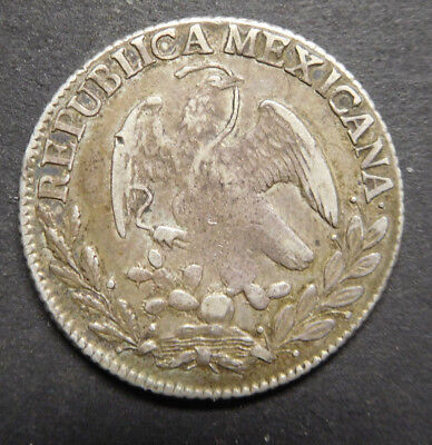 Mexico, FIRST REPUBLIC, 2 Reales , 1826, Silver Coin