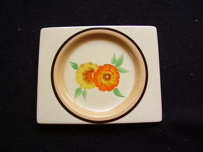 Biarritz Plate Hand Painted In Clarice Cliff Pattern