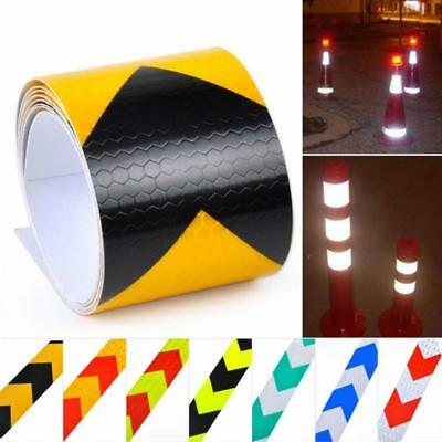 3 Meter Safety Car Truck Warning Night Reflective Arrow Strip Tape Sticker LC