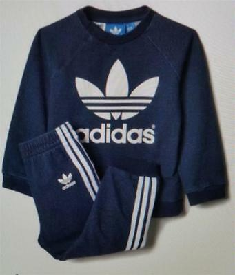 adidas infants boys girls denim firebird tracksuit new ab0841 age 0-3 to 3-4 yrs