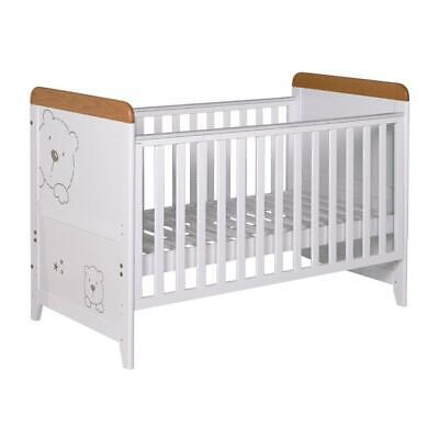 Tutti Bambini Bears Cot Bed (White with Beech) - From Birth to 6 Years