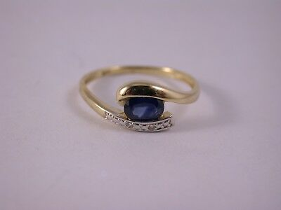 interessanter Designer Ring Saphir Diamant Gold
