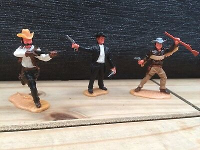 VERY RARE AND FOR VINTAGE TIMPO COWBOYS EARLY 1980s SET OF THREE