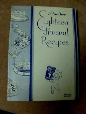 1932 Jack Frost Sugar Booklet Cookbook - Another Eighteen Unusual Recipes