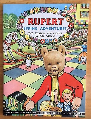 RUPERT Adventure Series No 36 Spring Adventures Feb 1958 Very FINE Ex-Shop Stock