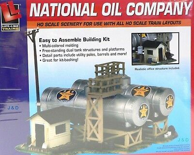 HO Scale Model Railroad Trains Layout National Oil Scenery Building Kit 433-1331