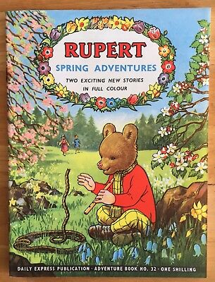 RUPERT Adventure Series 32 Spring Adventures April 1957 FINE Ex-Shop Stock